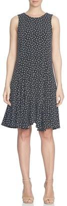 CeCe 'Ditsy Leaf' Print Sleeveless Handkerchief Hem Dress $119 thestylecure.com