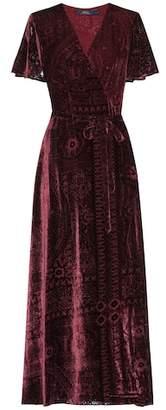 Polo Ralph Lauren Devoré silk-blend dress