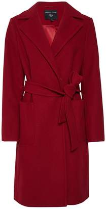 Dorothy Perkins Womens Red Patch Pocket Wrap Coat