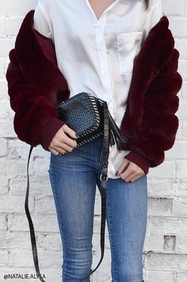 FOREVER 21+ Faux Fur Bomber Jacket $49.90 thestylecure.com