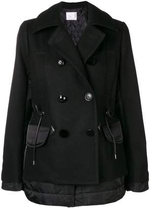 Sacai two textile military coat