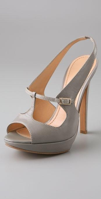 Pollini Mary Jane Platform Sandals