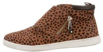 Rebecca Minkoff Ponyhair High-Top Sneakers