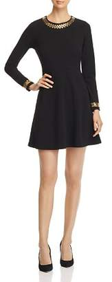 MICHAEL Michael Kors Studded Fit-and-Flare Dress