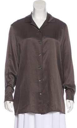 Hermes Silk Long Sleeve Top