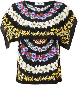 MSGM flower print blouse