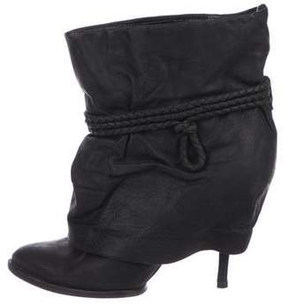 Givenchy Leather Pointed-Toe Boots