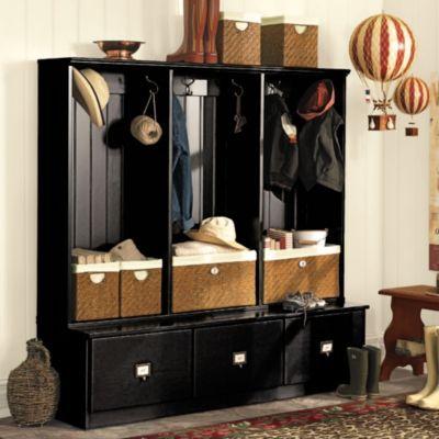 Triple Beadboard Entry Cabinet