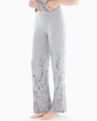 Cool Nights Pajama Pants Elegant Scroll Border Heather