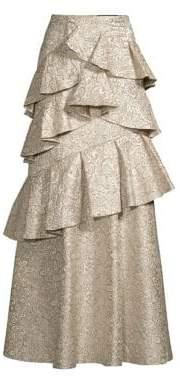 Alice + Olivia Flossie Tiered Ruffle Skirt
