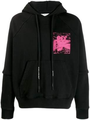 Off-White Off White skeleton hoodie black