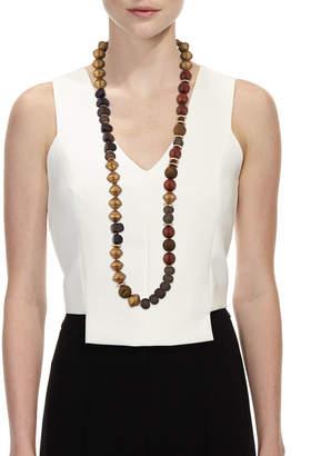 Neiman Marcus Akola Long Glass Metallic Necklace