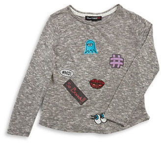 Almost Famous Girls 7-16 Emoji Knit Top $28 thestylecure.com