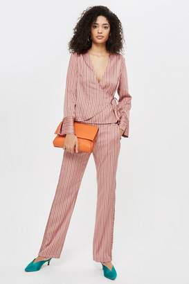 Topshop Stripe Slouch Trousers