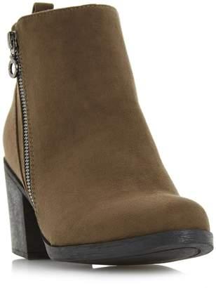 Head Over Heels PEONY - Block Heel Side Zip Ankle Boot