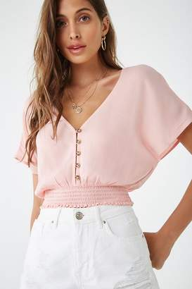 Forever 21 Button-Front Dolman Top