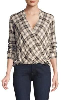 Splendid Women's Willow Voile Plaid Blouse - Plaid - Size Medium