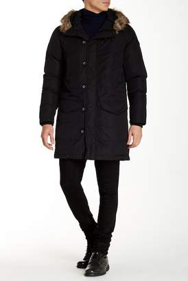 Diesel Kirton Faux Fur Trim Hooded Jacket $398 thestylecure.com