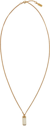 A.P.C. Gold Turenne Necklace $130 thestylecure.com