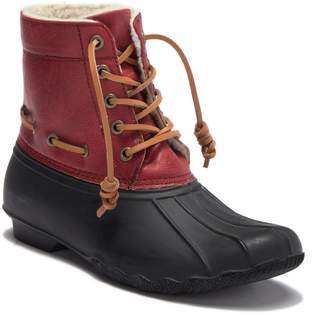 Seven7 Deanston Faux Shearling Lined Duck Toe Boot