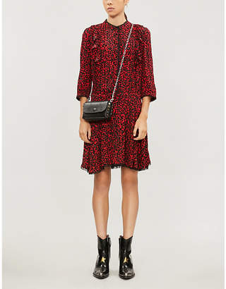 Zadig & Voltaire ZADIG&VOLTAIRE Remo leopard-print flared-skirt crepe mini dress