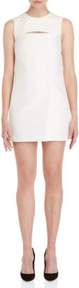 Emilio Pucci Slit Button Front Mini Dress