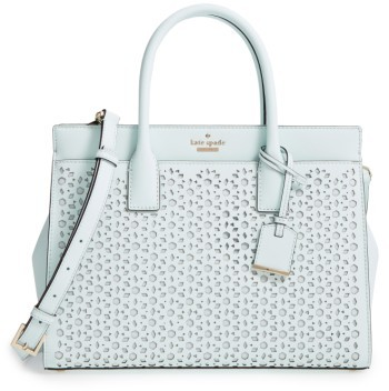 Kate SpadeKate Spade New York Cameron Street - Candace Perforated Leather Satchel - White