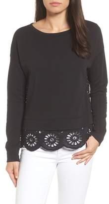 Caslon Eyelet Trim Sweatshirt