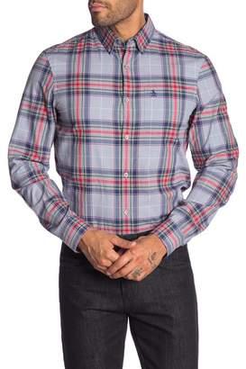 Original Penguin Plaid Long Sleeve Heritage Slim Fit Shirt