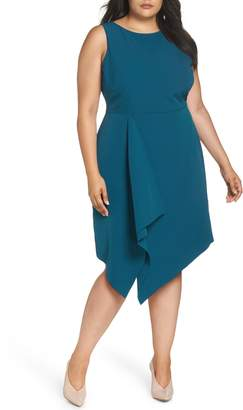 Vince Camuto Laguna Asymmetrical Sheath Dress