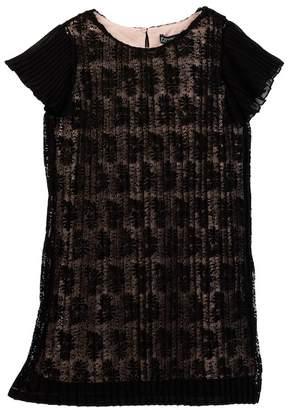 Trixxi Pleated Lace Dress (Big Girls)