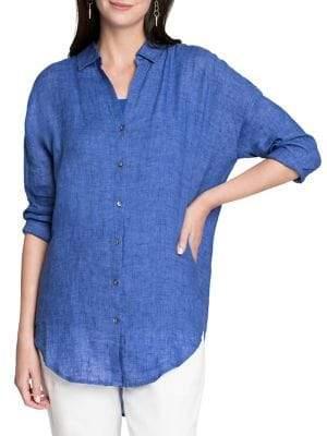 Nic+Zoe Joyride Linen Button-Down Tunic