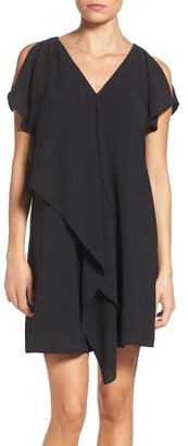 Women's Adrianna Papell Cold Shoulder Draped Shift Dress $140 thestylecure.com