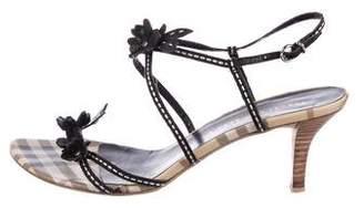 Burberry Canvas Strap Sandals