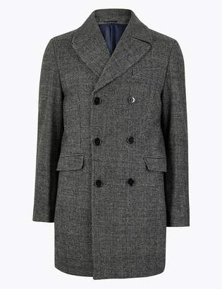 Marks and Spencer Tailored Wool Double Breasted Peacoat