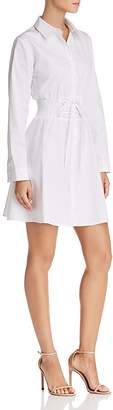 Aqua Corset Fit-and-Flare Shirt Dress - 100% Exclusive