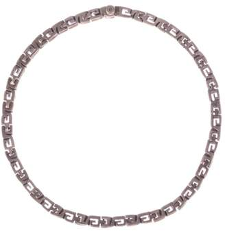 Mexican Sterling Silver Greek Key Collar Necklace
