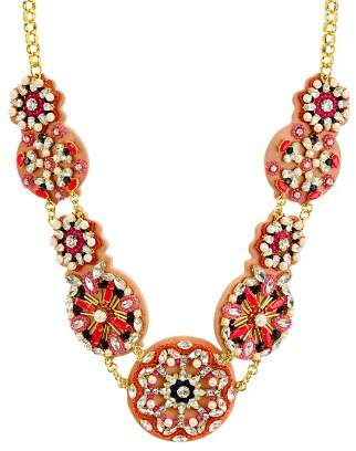 Kate Spade Beaded Medallions Statement Necklace, 14""