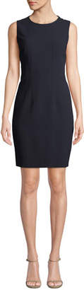 Elie Tahari Tera Sleeveless Jewel-Neck Shift Dress
