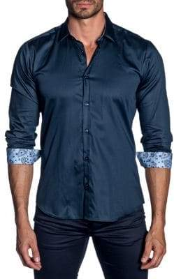 Jared Lang Contrast Button-Down Shirt