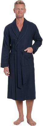 Noble Mount Men's Premium Flannel Robe - L/XL