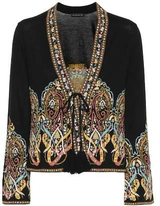Etro Jacquard wool-blend cardigan