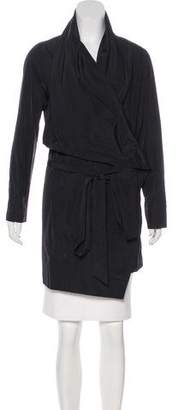 Pauw Knee-Length Wrap Coat