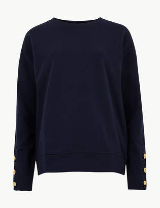 Marks and Spencer Round Neck Long Sleeve Sweatshirt