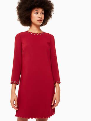 Kate Spade Scallop grommet shift dress