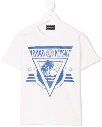 Versace beach print T-shirt
