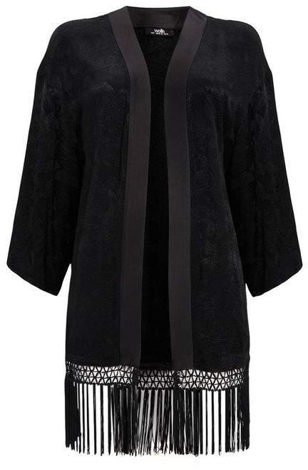 Black Tassle Jacquard Jacket