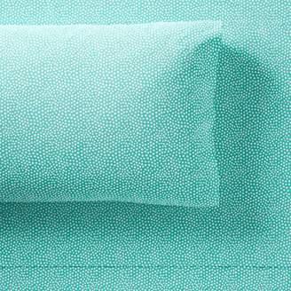 Pottery Barn Teen Mini Dot Sheet Set, Queen, Pool