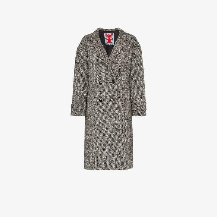 Adaptation double breasted tweed wool coat