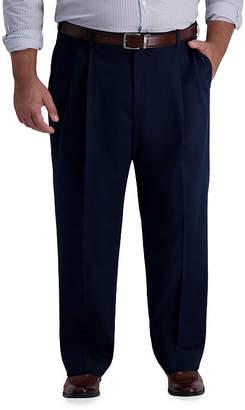 Haggar Iron Free Premium Khaki Classic Fit Pleat Pant Big & Tall Mens